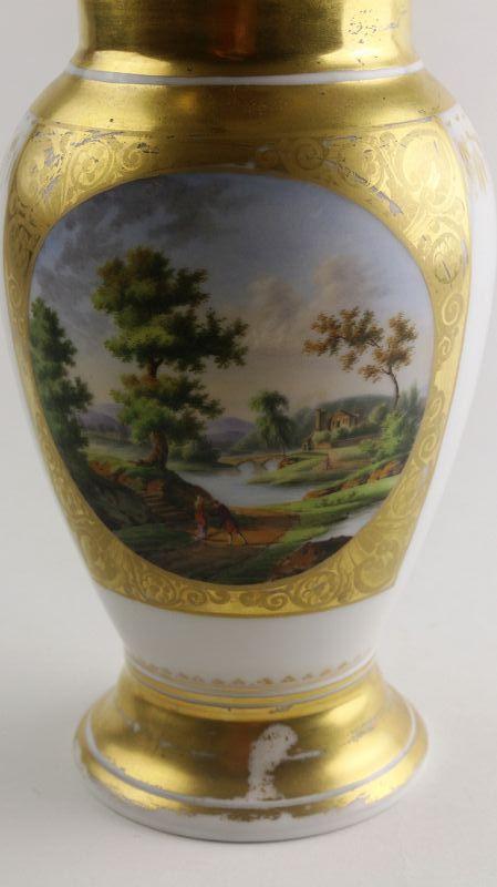 Old Paris Porcelain Hand Painted Pitcher