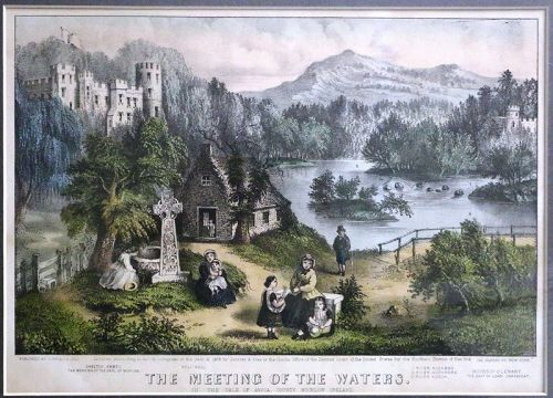 The Meeting of the Waters. Currier and Ives, c. 1868