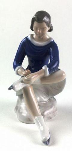 Bing and Grondahl Skating Girl Porcelain Figure