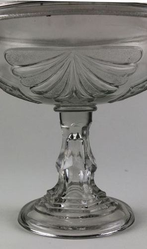 EAPG High Standard Compote with Cover, Shell Pattern Bowl