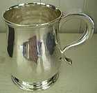 English Newcastle Sterling Child's Mug, dated 1722
