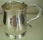 English Newcastle Sterling Child's Mug, dated 1722