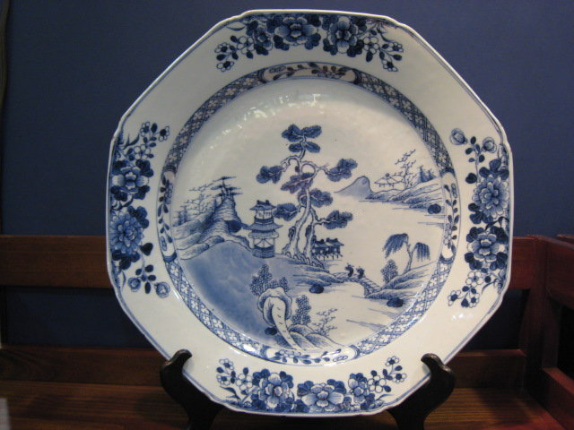Chinese Export Porcelain Blue & White Kang Hsi Charger
