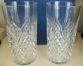 Pair of Magnificent American Cut Glass Tumblers c. 1890