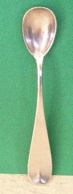 Early Lowell Mass. Silver Mustard Spoon, c. 1840-50