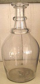 Early American Hand Blown Bar Bottle, c. 1810-20