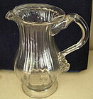 American Stiegel-type Ribbed Flint Glass Creamer, 1777