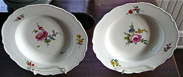 Pair of Meissen Dot Period Soup Bowls, c. 1763-74