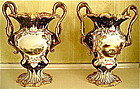 Pair of English Chamberlain Worcester Vases, c. 1845-5