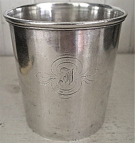 New York '950' Silver Julep Cup, c. 1850