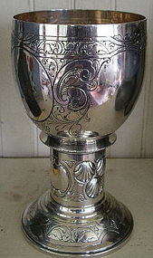 German 800 Silver Footed Standing Cup, c. 1888