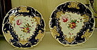 Pair of English Coalport Porcelain Plates, c.1840