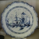 English Liverpool Pearlware Plate, c. 14790-1810