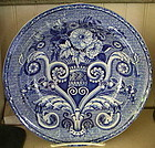English Clews Blue & White Pottery Soup Bowl, c. 1820
