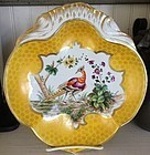 French  Porcelain Handpainted Shrimp Dish, c. 1870