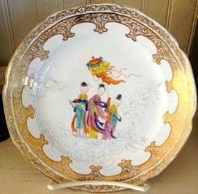 Continental Porcelain Chinoserie Decorated Plate, 1780