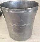 Early American Pewter Beaker, Meridian Conn., 1807