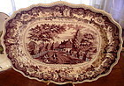 Historical Richard Jordan Purple & White Platter, 1830