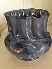 George Ohr White Pottery Vase, c. 1900