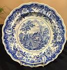 Early American Historical Blue & White Plate, c. 1830, Richard Jordan