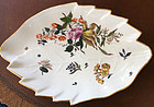 German Meissen Leaf Form Dish with Floral Decoration, c. 1745