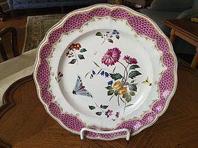 Rare German Meissen Porcelain Plate, c. 1770