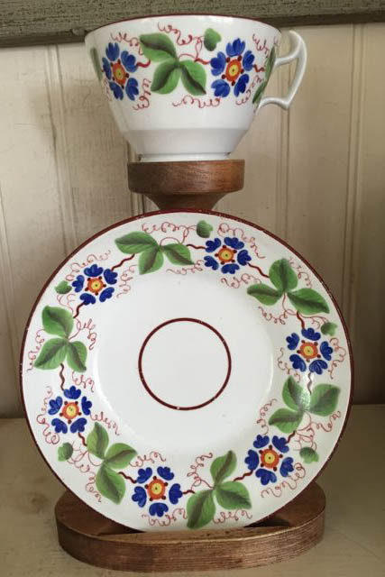 New Hall Bone China Cup and Saucer, c. 1820