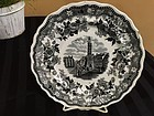 American Historical Black & White Staffordshire Plate, c. 1820-30
