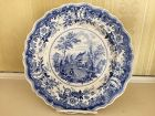 American Historical Staffordshire Blue & White Plate, c. 1830