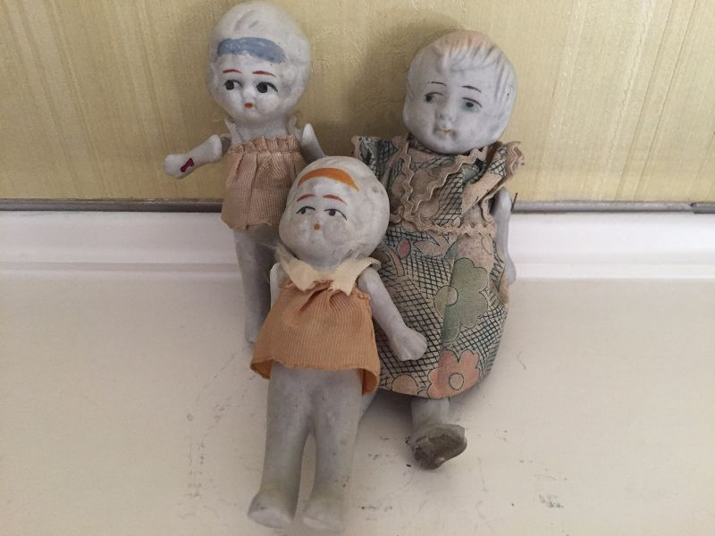Japanese Bisque Small Dolls