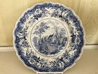 American Historical Blue and White Staffordshire Plate, c. 1830