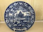 American Historical Staffordshire Blue & White Plate, c. 1820
