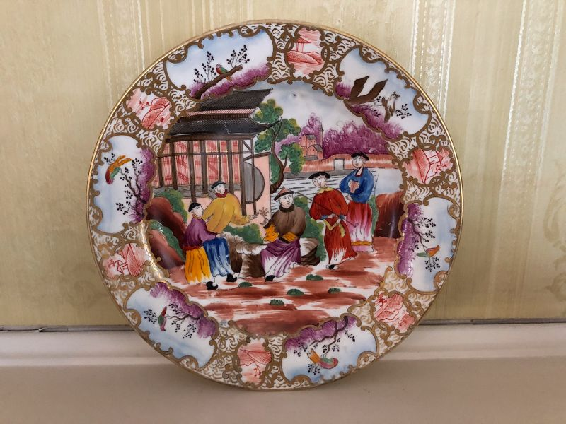 English Swansea Porcelain Plate, c. 1814