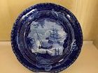 American Historical Staffordshire Blue and White Plate, c. 1810