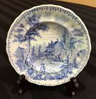 Rare Staffordshire American Historical Cup Plate, c. 1830