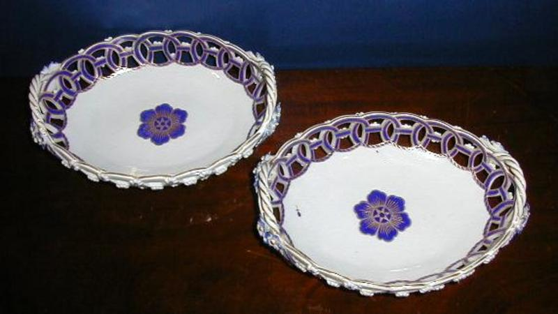 Worcester Porcelain Reticulated Baskets, c. 1770