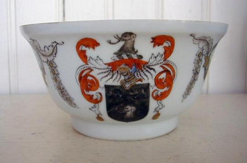 Chinese Export Porcelain Armorial Open Bowl, c. 1740