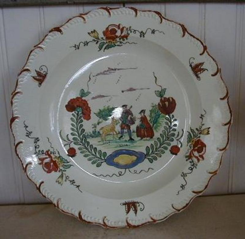 Rare English Creamware Featheredge Plate, c. 1780