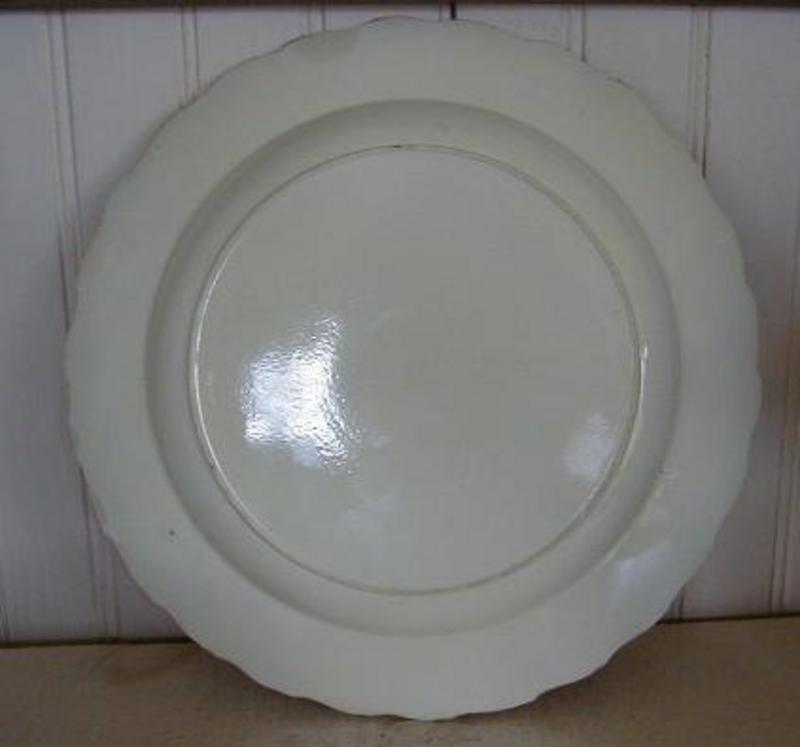 Rare English Creamware Featheredge Plate, c. 1780
