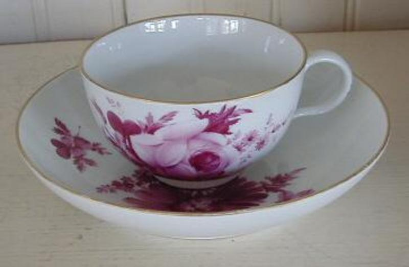 Meissen Marcoloni Period Tea Cup and Saucer, c. 1780