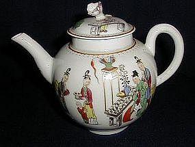 English Worcester Porcelain Teapot,c. 1765
