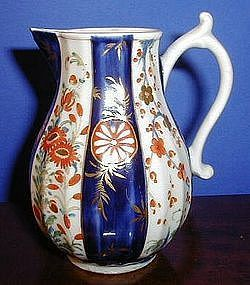 English Worcester Sparrow Beak Milk Jug, c. 1770