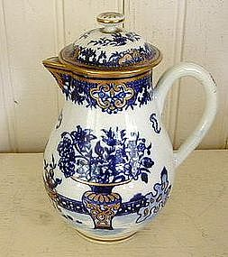 Worcester Blue & White Sparrow Beak Creamer, c. 1785