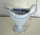 English New Hall Porcelain Footed Creamer, c. 1785