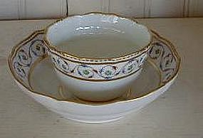 English Derby Porcelain Tea Bowl and Saucer, c. 1785