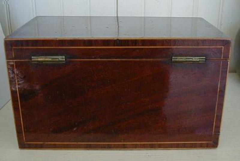 English George III Mahogany Tea Box, c. 1790