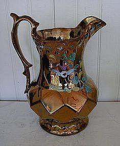 English Copper Lustre Jug, c. 1840