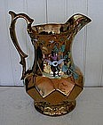 English Copper Lustre Jug, c. 1840