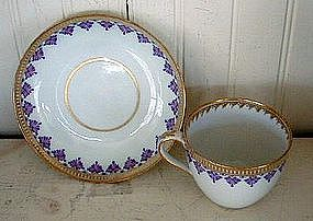 English Derby Cup and Saucer, c. 1790