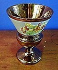 English Copper Lustre Goblet, c. 1830